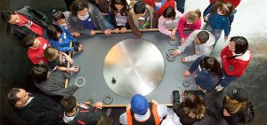 A school group at the Exploratorium.
