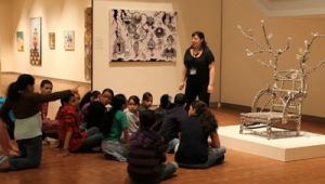 A School Group at the Smith College Museum of Art.  From http://www.smith.edu/artmuseum/