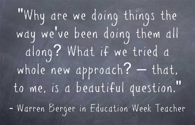 Warren Berger in Education Week Teacher