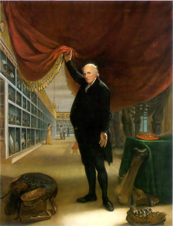 Charles Willson Peale, The Artist in His Museum (self-portrait), 1822