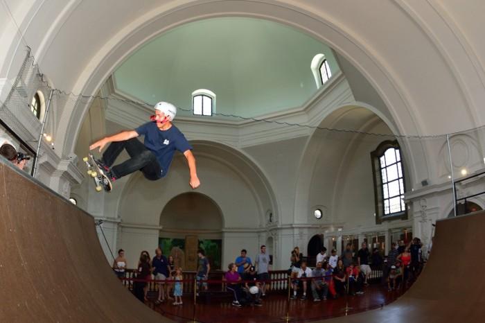 Skateboarding at San Diego Museum of Man