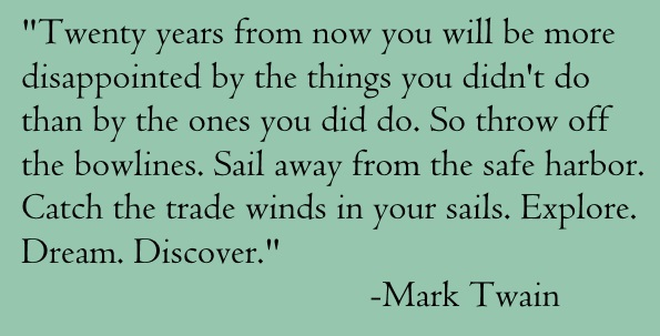 mark twain quote - blue