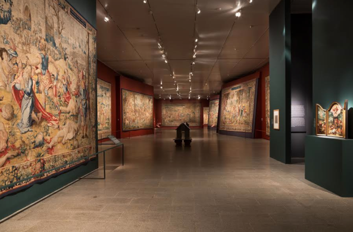 Exhibition of tapestries on view at the Metropolitan Museum of Art in 2014