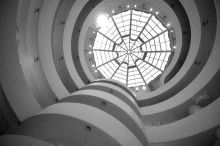 """Hilla Rebay, the first director of the Guggenheim Museum, wrote to Frank Lloyd Wright asking him to build her a """"Temple of Spirit."""" Image credit: """"Guggenheim New York"""" by Martyn Jones at en.wikipedia. Licensed under CC BY-SA 3.0 via Wikimedia Commons - http://commons.wikimedia.org/wiki/File:Guggenheim_New_York.jpg#mediaviewer/File:Guggenheim_New_York.jpg"""