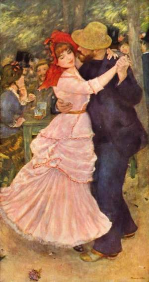 Pierre-Auguste Renoir, Dance at Bougival, 1883. This is one of over 40 works by Renoir in the collection of the MFA Boston.
