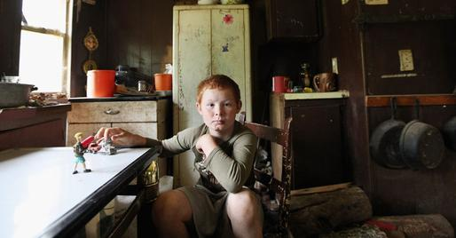 A child in Owsley County, Kentucky, median household, which has one of the lowest medium incomes in the United States.