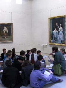 Student group at Musee d'Orsay
