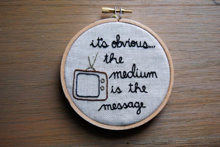 embroidery mcluhan